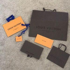 Louis Vuitton | sacks and receipt/gift card holder